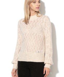 Pulover din amestec de lana - cu perforatii Marie