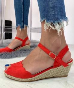Sandale Jodee Rosii #B4256