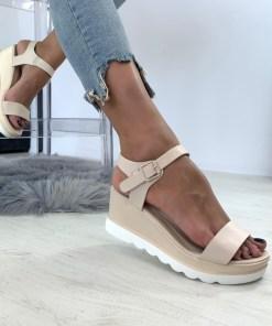 Sandale Platforma Athena Bej #B4633