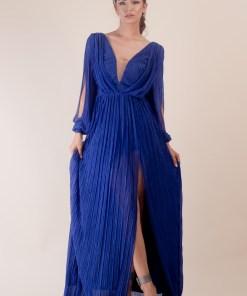 Rochie lunga albastru 34