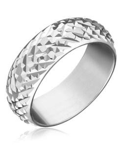 Inel argint 925 - romburi lucioase proeminente - Marime inel: 50