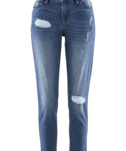 Bonprix Jeans 7/8 girlfriend, design by Maite Kelly - albastru stone