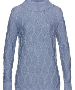 Bonprix Pulover tricotat - albastru mat