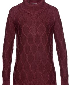 Bonprix Pulover tricotat - rosu artar