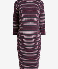 Rochie midi cu dungi - pentru gravide - 2375173