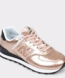 Pantofi sport NEW BALANCE aurii, WL574, din piele naturala