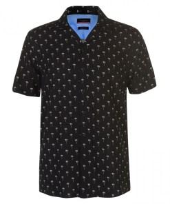 Camasa cu maneca scurta Pierre Cardin Palm Short Sleeve Shirt Mens