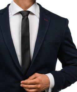 Cravata eleganta pentru barbat neagra Bolf K001