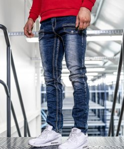 Blugi bleumarin straight leg Bolf KA9915