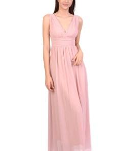 Rochie de ocazie roz cu bretele 3945 R