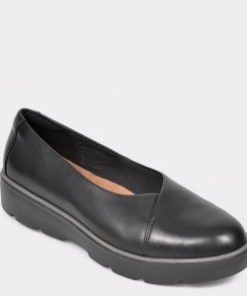 Pantofi CLARKS negri, Un Balsa Go, din piele naturala