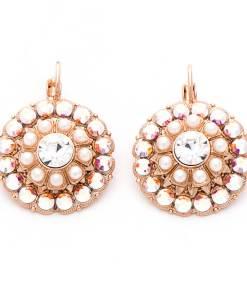 Cercei Crystal Pearl's placati cu aur 24K - 1131/1-M48001RG6