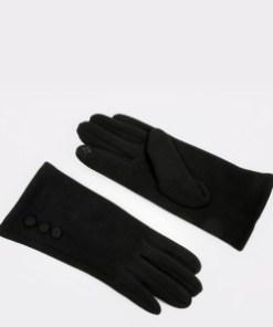 Manusi ALDO negre, Ibenadia001, din material textil