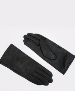 Manusi ALDO negre, Riamma001, din material textil