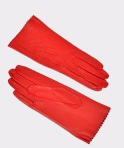 Manusi SEMPRE TRIM rosii, D31, din piele naturala