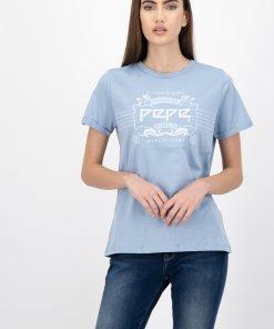 Tricou din bumbac organic cu imprimeu grafic Adette