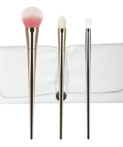 Set 3 pensule machiaj din par natural Perfect Gift Collection + Borseta Cadou