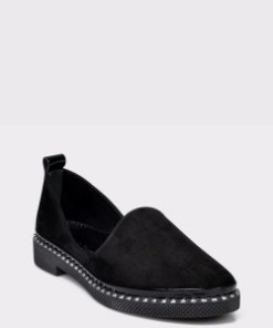 Pantofi FLAVIA PASSINI negri, 72190Y, din piele intoarsa