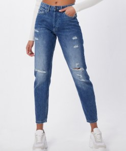 JACQUELINE De YONG Jeans 'SELMA BOYFRIEND MED BLUE' denim albastru