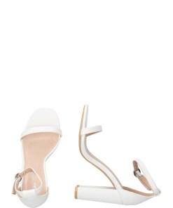 GLAMOROUS Sandale cu bereta alb