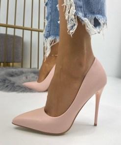 Pantofi Stiletto Dama Piele Ecologica Roz Camea B6728