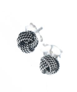 Cercei argint cu nod stilizat - Cercei argint cu nod stilizat