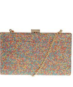 Clutch cu paiete colorate
