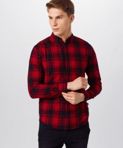 Denim Project Camasa 'Check Shirt' rosu