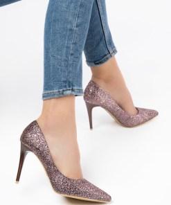 Pantofi stiletto Avelia Aurii