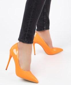 Pantofi stiletto Elama Portocalii