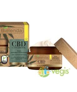 CBD CANNABIDIOL Crema de Fata Hidratanta si Detoxifianta cu Canabidiol CBD din Seminte de Canepa pentru Ten Mixt si Gras 50ml