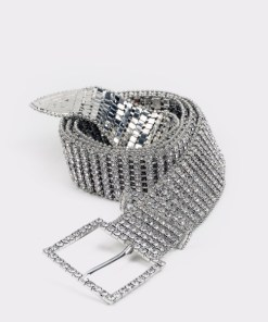 Curea ALDO argintie, Laroreni100, din PVC