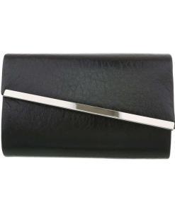 Poseta eleganta, tip plic, de culoare neagra