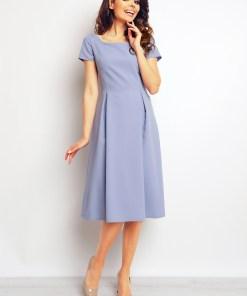 Rochie eleganta, midi, de culoare lila