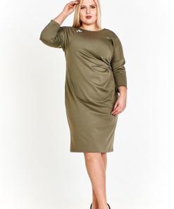 Rochie eleganta, de culoare oliv