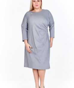 Rochie eleganta, de culoare gri