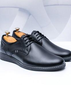Pantofi Piele barbati negri Golasio-rl