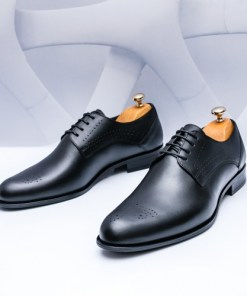 Pantofi Piele barbati negri Lipsani-rl
