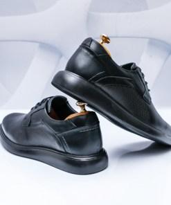 Pantofi Piele barbati negri Serioli-rl