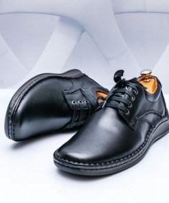 Pantofi Piele casual barbati negri Posino-rl