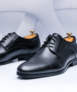 Pantofi Piele eleganti negri Jonioli-rl