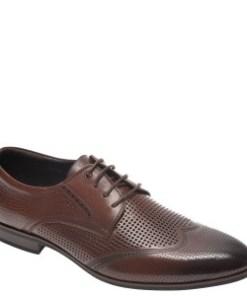 Pantofi OTTER maro, F01978, din piele naturala