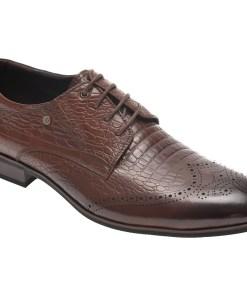 Pantofi OTTER maro, F335612, din piele naturala