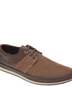 Pantofi OTTER maro, M5119, din nabuc
