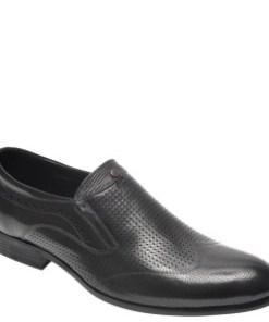 Pantofi OTTER negri, A824401, din piele naturala