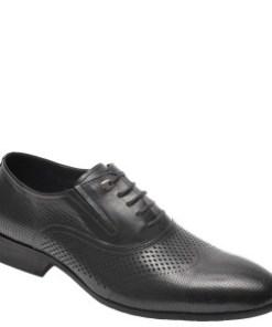 Pantofi OTTER negri, A833001, din piele naturala