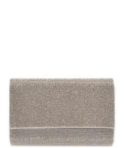Poseta plic ALDO argintie, Imnaha040, din material textil