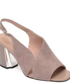 Sandale EPICA bej, Z543S62, din piele intoarsa