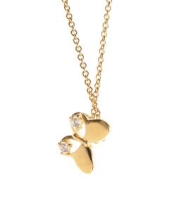 Colier placat aur, pandantiv fluture