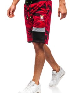 Pantaloni scurți de trening roșii bărbați Bolf KK300160